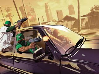 grand theft auto v, gta5, grove street wallpaper
