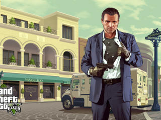grand theft auto v, michael de santa, gta wallpaper