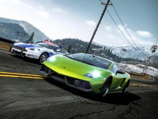 Green Car Need for Speed Hot Pursuit wallpaper