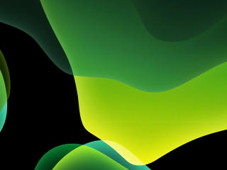 HD Wallpaper | Background Image Green iOS 13 Abstract Dark