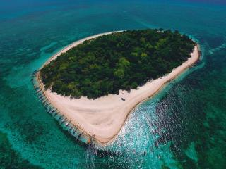 Green Island Drone View wallpaper