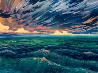 HD Wallpaper | Background Image Green Sea