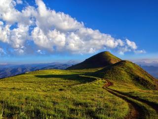Greeny Mountain Landscape wallpaper
