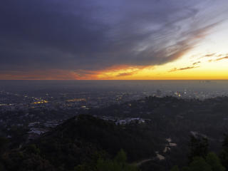 Griffith Park Observatory Landscape 4K wallpaper