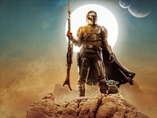 Grogu and The Mandalorian wallpaper