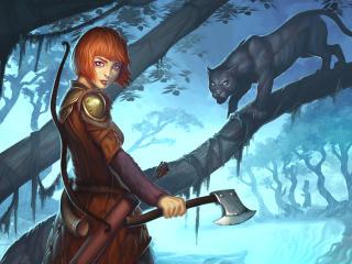 guild wars 2, ranger, girl wallpaper