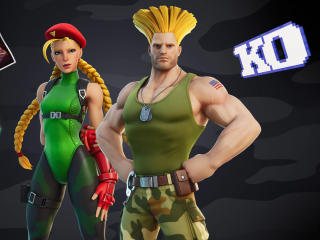 Guile and Cammy Fortnite Chapter 2 Street Fighter wallpaper