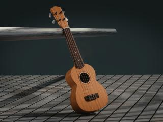 guitar, 3d, space wallpaper