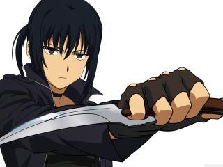 guy, anime, knife wallpaper