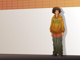 guy, wall, style wallpaper