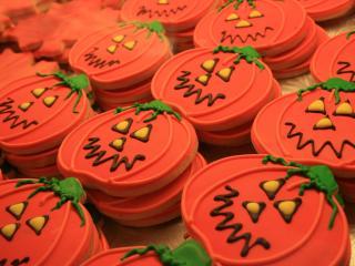 halloween, pumpkin, cookies wallpaper