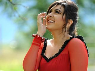 Hansika Motwani Red Dress Images wallpaper