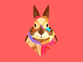 hare, rabbit, multicolored wallpaper
