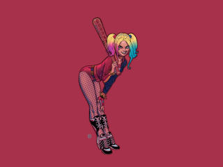 Harley Quinn Baseball Bat Art wallpaper