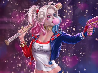 Harley Quinn Illustration wallpaper