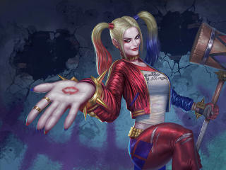 Harley Quinn with Hammer wallpaper