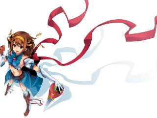haruhi, anime, girl wallpaper