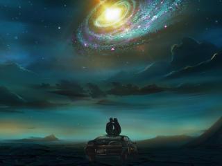 HD Artistic Love Galaxy Art wallpaper
