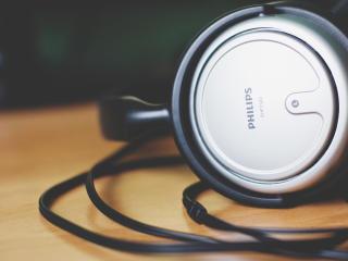 headphones, philips, logo wallpaper