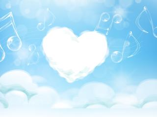 heart, melody, music wallpaper