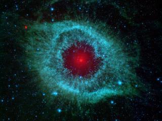Helix Nebula & Stars wallpaper