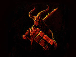 Hellboy Illustration wallpaper