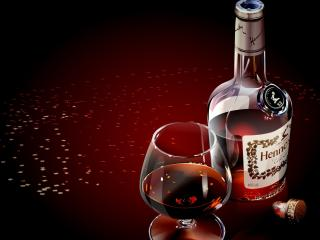 HD Wallpaper | Background Image hennessy, glass, cognac
