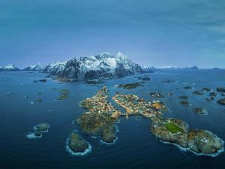Henningsvaer Sea Norway wallpaper