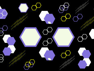 Hexagon Black Pattern wallpaper
