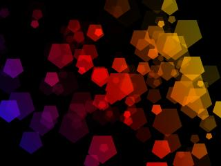 Hexagon Multiple Color 4K wallpaper