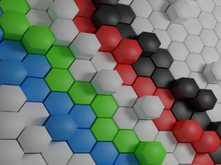 hexagon, shaped, surface wallpaper