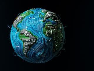 High Tech Earth wallpaper