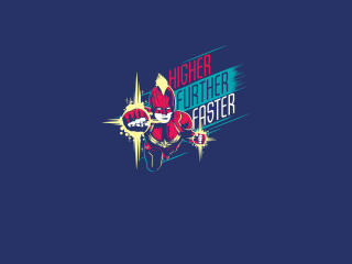 Higher Further Faster Minimal Captain Marvel wallpaper