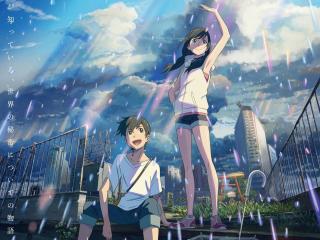 Hina Amano and Hodaka Morishima wallpaper