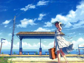 HD Wallpaper | Background Image hisakata souji, girl, dress