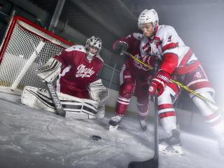 Hockey Player Playing wallpaper