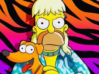 Homer Simpson as Tiger King wallpaper