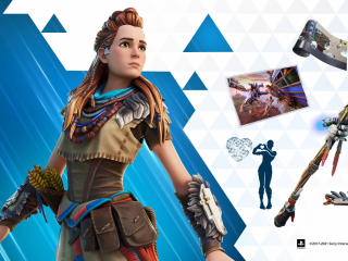 Horizon Zero Dawn's Aloy x Fortnite wallpaper