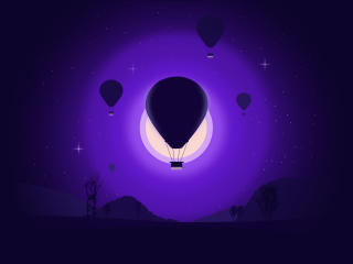 Hot Air Balloon Art wallpaper