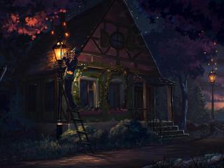 house, fairy tale, art wallpaper