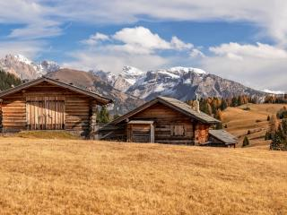 House in Dolomites wallpaper