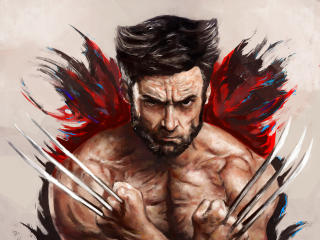 Hugh Jackman as Wolverine Artwork wallpaper
