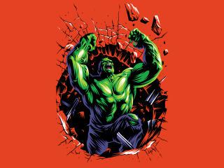 Hulk 4K Minimal Art wallpaper