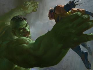 hulk, wolverine, x-men wallpaper