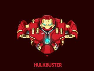Hulkbuster 4k Minimal wallpaper