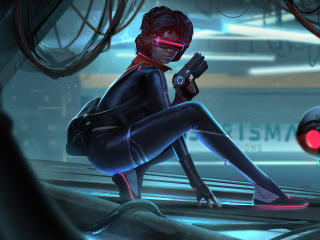 Hyper Scape 2021 Cyberpunk Girl wallpaper