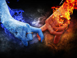 Ice and Fire Love wallpaper