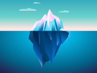 Iceberg Minimal wallpaper