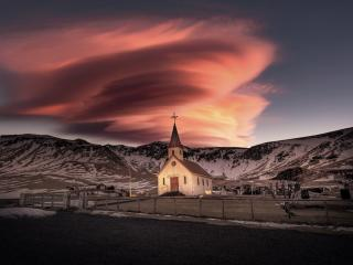Iceland Church 5K wallpaper