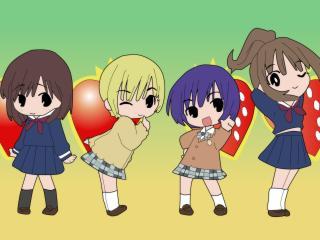 ichigo 100, girls, wink wallpaper